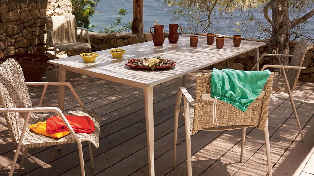 dedon wa esstisch 100x100 cm teak vom gartenhaus fachh ndler. Black Bedroom Furniture Sets. Home Design Ideas