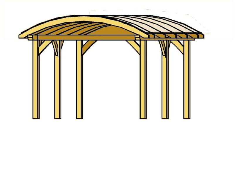 holz carport bausatz skanholz franken durchsichtiges tonnendach doppelcarport kaufen im holz. Black Bedroom Furniture Sets. Home Design Ideas