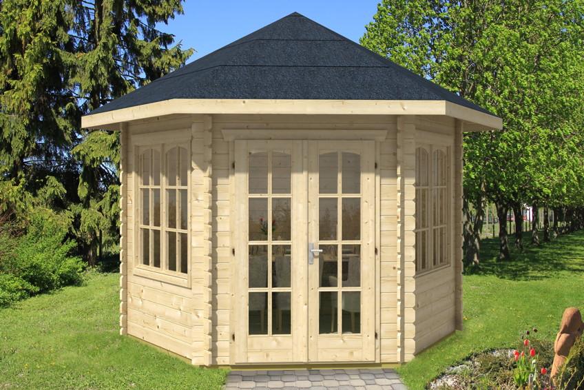 Gartenhaus skanholz madeira 6 pavillon vom gartenhaus - Gartenhaus mit tonnendach ...