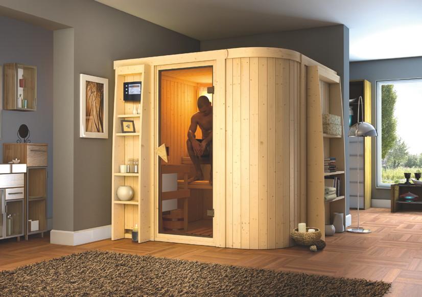 heimsauna karibu titania 3 fronteinstieg sauna