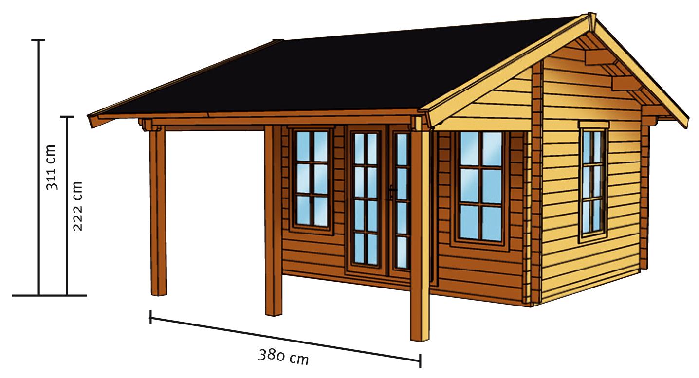 gartenhaus skanholz luzern mit gro er berdachung kaufen im holz garten baumarkt. Black Bedroom Furniture Sets. Home Design Ideas