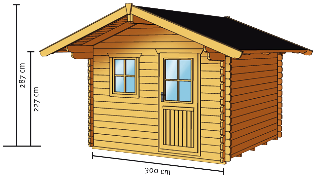 gartenhaus skanholz arosa blockbohlen holzhaus mit. Black Bedroom Furniture Sets. Home Design Ideas