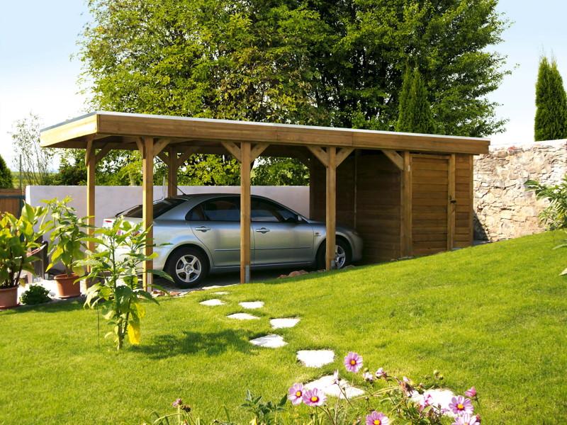 Carport ger teraum skanholz abstellraum c3 fahrrad garage - Abstellraum garten ...