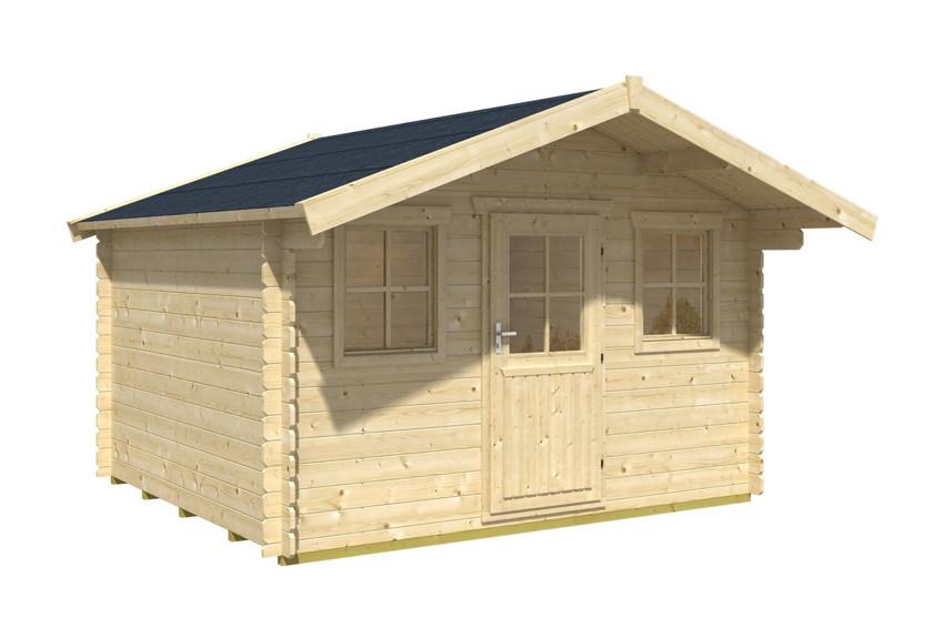 gartenhaus skanholz lagos blockbohlen holzhaus mit fenster kaufen im holz garten. Black Bedroom Furniture Sets. Home Design Ideas