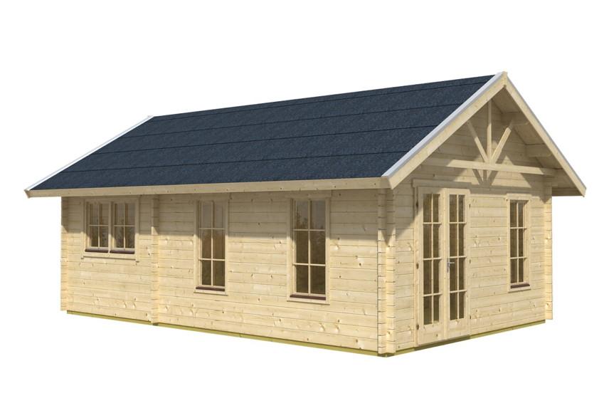 Gartenhaus SKANHOLZ «Toronto» 45mm Wochenendhaus Holzhaus in 3