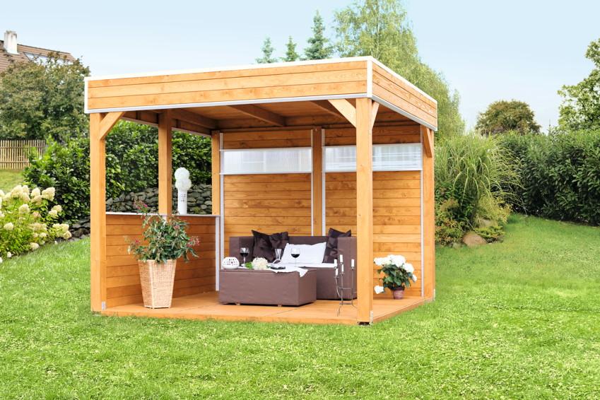 Pavillon skanholz toulouse 4 eck pavillion holzpavillon vom gartenhaus fachh ndler - Holzpavillon garten ...