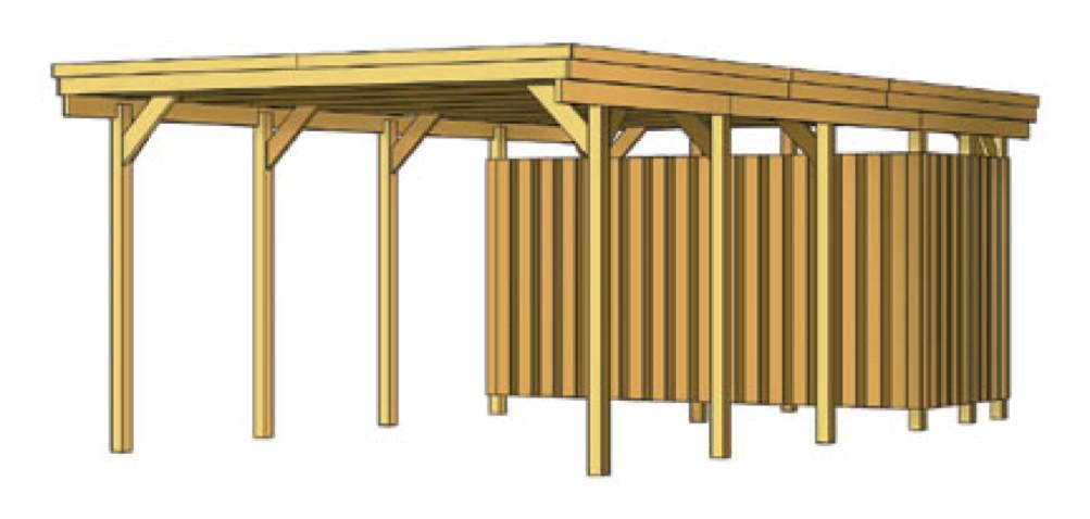 holz carport skanholz lausitz flachdach doppelcarport kaufen im holz garten baumarkt. Black Bedroom Furniture Sets. Home Design Ideas