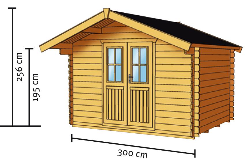 gartenhaus skanholz faro blockbohlen holzhaus doppelt r vom gartenhaus fachh ndler. Black Bedroom Furniture Sets. Home Design Ideas