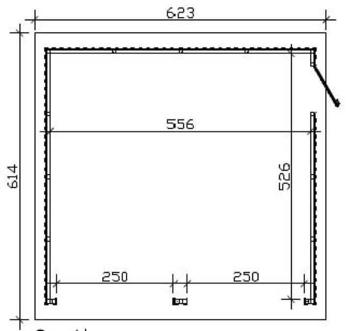 Überdachung Aus Holz Hier Günstig Kaufen Qsgartendecode: Garage SKANHOLZ «Falun» Doppelgarage Holzgarage Bausatz