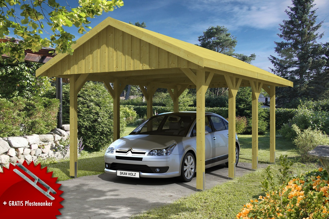holz carport skanholz sauerland einzelcarport mit. Black Bedroom Furniture Sets. Home Design Ideas