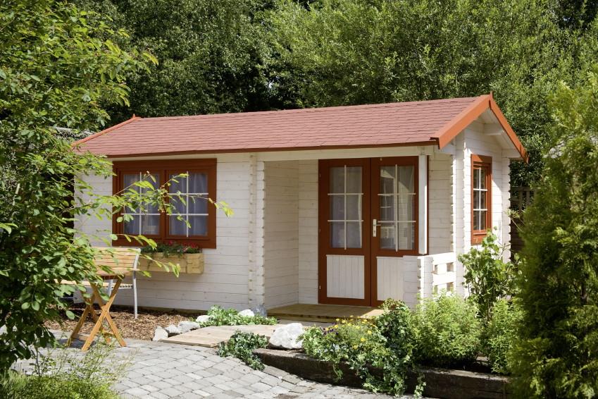 gartenhaus wolff malaga 40 holz gartenhaus mit terrasse. Black Bedroom Furniture Sets. Home Design Ideas