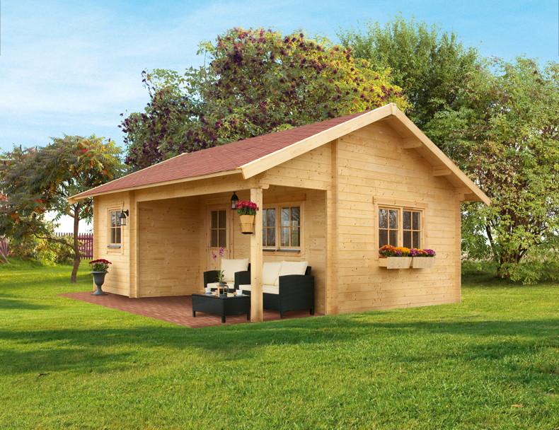 gartenhaus skanholz st moritz berdachter eingang vom. Black Bedroom Furniture Sets. Home Design Ideas