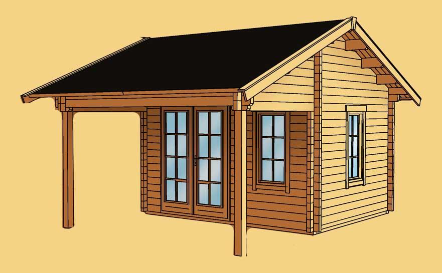 gartenhaus skanholz calgary mit gro er berdachung vom gartenhaus fachh ndler. Black Bedroom Furniture Sets. Home Design Ideas
