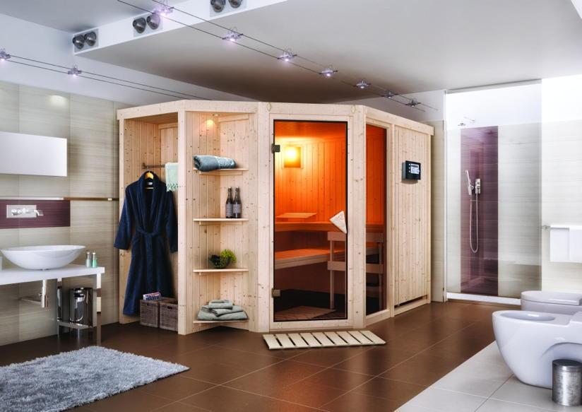 Wohnzimmer und Kamin gartenhaus 3x3m : Heimsauna KARIBU u00abSjardu00bb (Eckeinstieg) - Sauna : Kaufen im ...