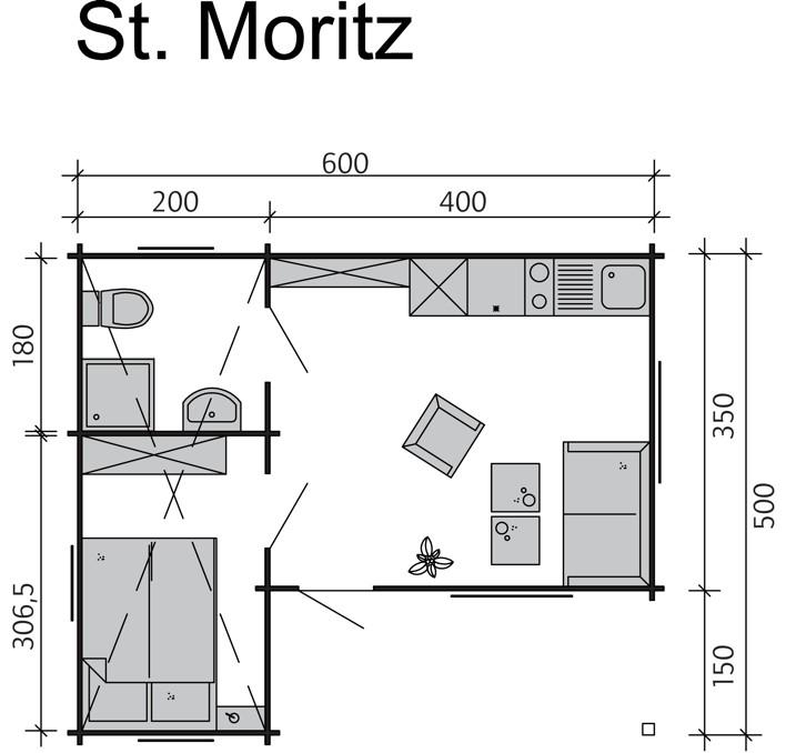 Überdachung Aus Holz Hier Günstig Kaufen Qsgartendecode: Gartenhaus SKANHOLZ «St.Moritz» überdachter Eingang