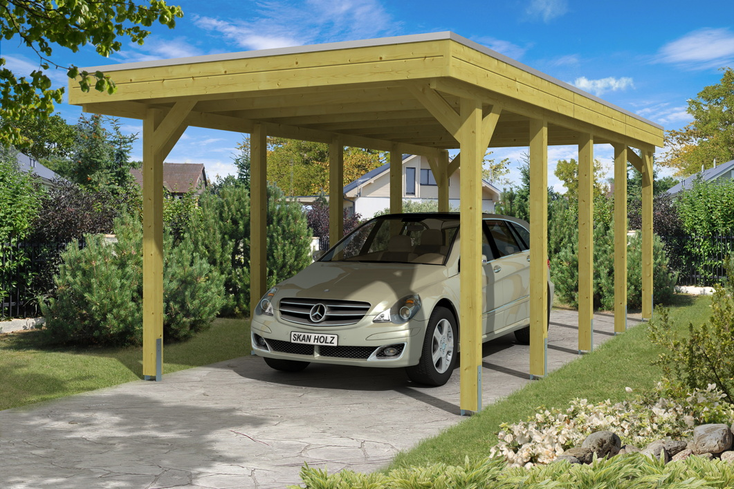 holz carport bausatz skanholz friesland aluminiumdach. Black Bedroom Furniture Sets. Home Design Ideas