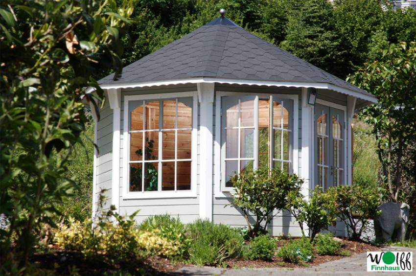 holz pavillon geschlossener mit panorama fenstern u. Black Bedroom Furniture Sets. Home Design Ideas