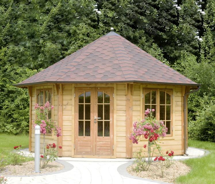 premium holzpavillon gartenpavillon geschlossen. Black Bedroom Furniture Sets. Home Design Ideas