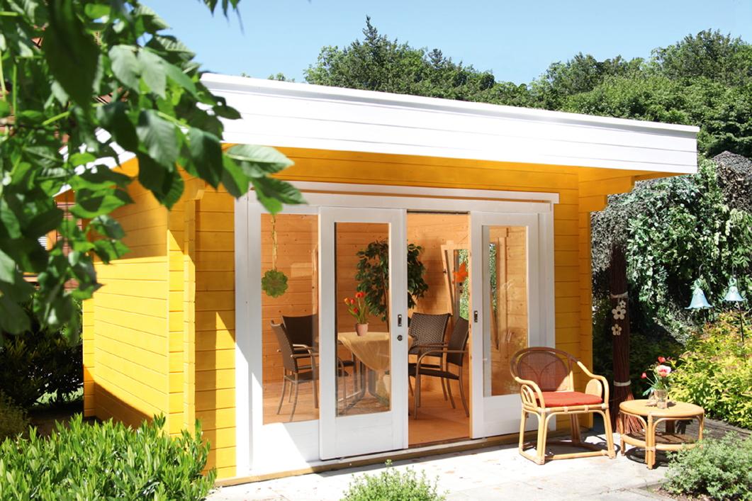 gartenhaus 360x300cm holzhaus bausatz mit schiebet r flachdach kaufen im holz garten. Black Bedroom Furniture Sets. Home Design Ideas