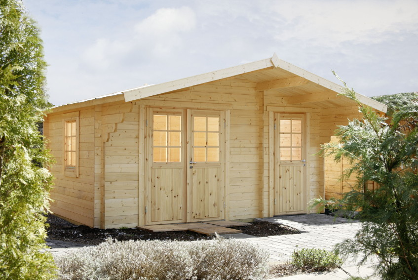 Gartenhaus «450x300cm Holzhaus Bausatz 34 mm Klassik» 2-Raum  Holz-Gartenhaus | vom Gartenhaus-Fachhändler