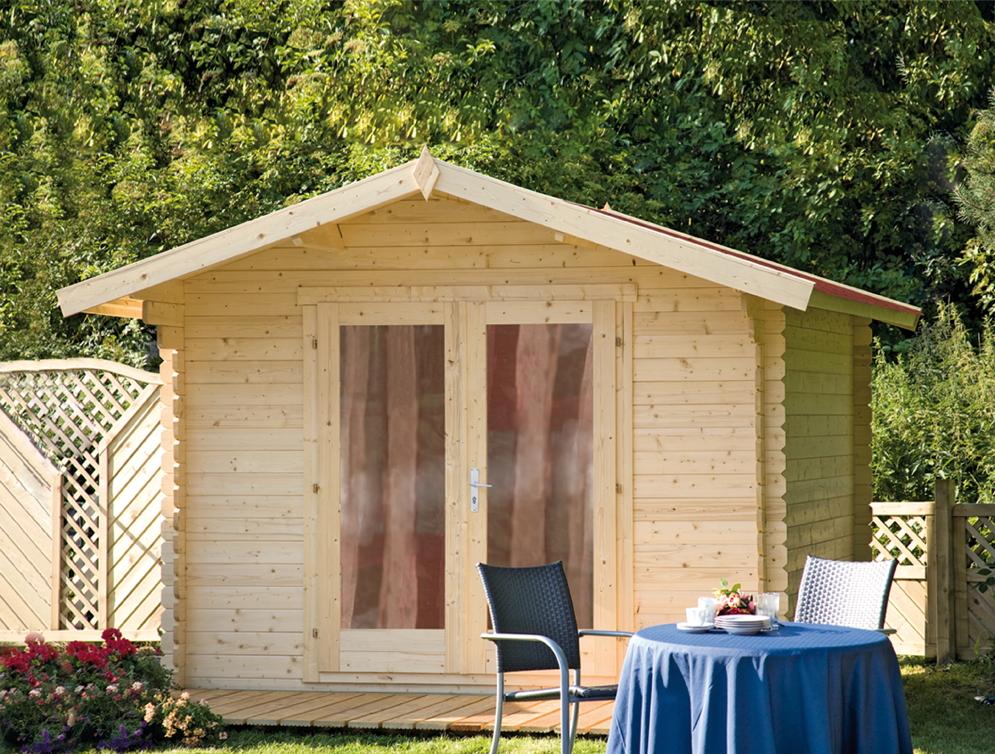 gartenhaus 300x300cm bausatz holzhaus holz gartenhaus doppelt r kaufen im holz. Black Bedroom Furniture Sets. Home Design Ideas