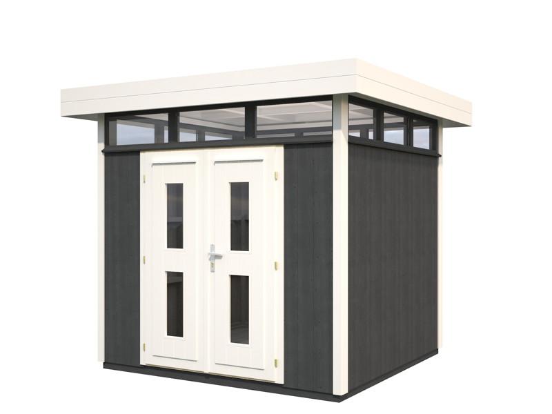 ger tehaus palmako york flachdach vom gartenhaus. Black Bedroom Furniture Sets. Home Design Ideas