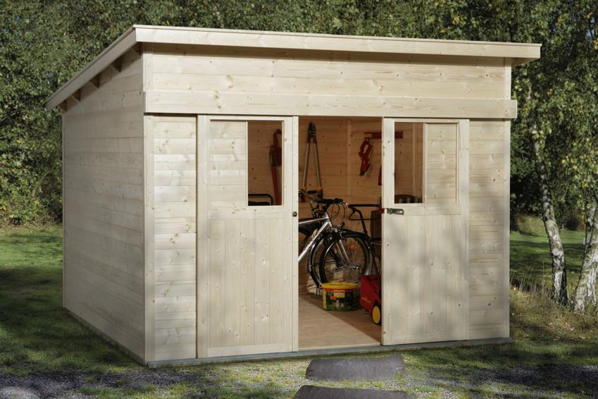 sandy gartenhaus weka 21mm nova mit schiebetuer. Black Bedroom Furniture Sets. Home Design Ideas