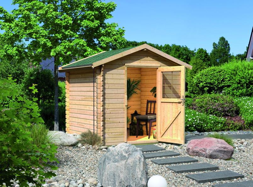 gartenhaus woodfeeling felsenau kaufen im holz. Black Bedroom Furniture Sets. Home Design Ideas