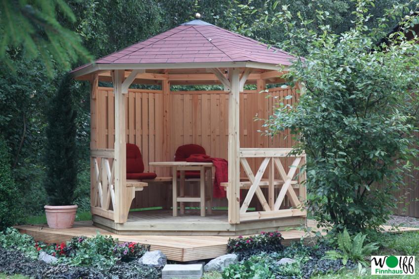 Holz pavillon offen gartenpavillon 300x250cm vom gartenhaus fachh ndler - Gartenpavillon selber bauen ...