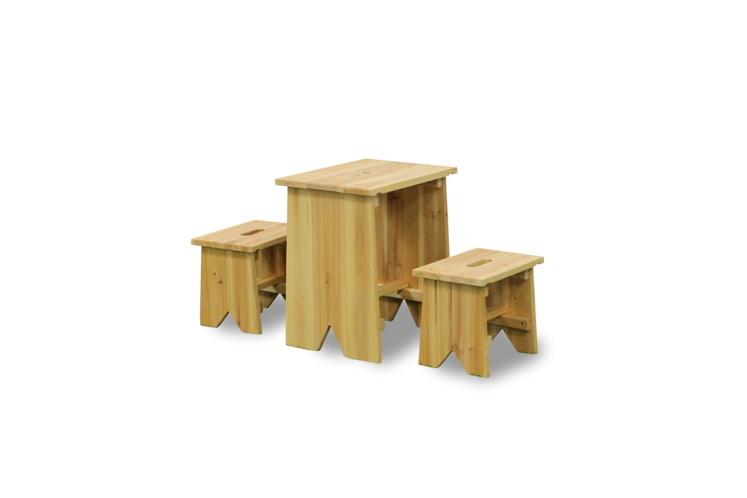 kinder holz gartenbank picknick set gr e xl holz sitzgruppe kindergarnitur vom gartenhaus. Black Bedroom Furniture Sets. Home Design Ideas