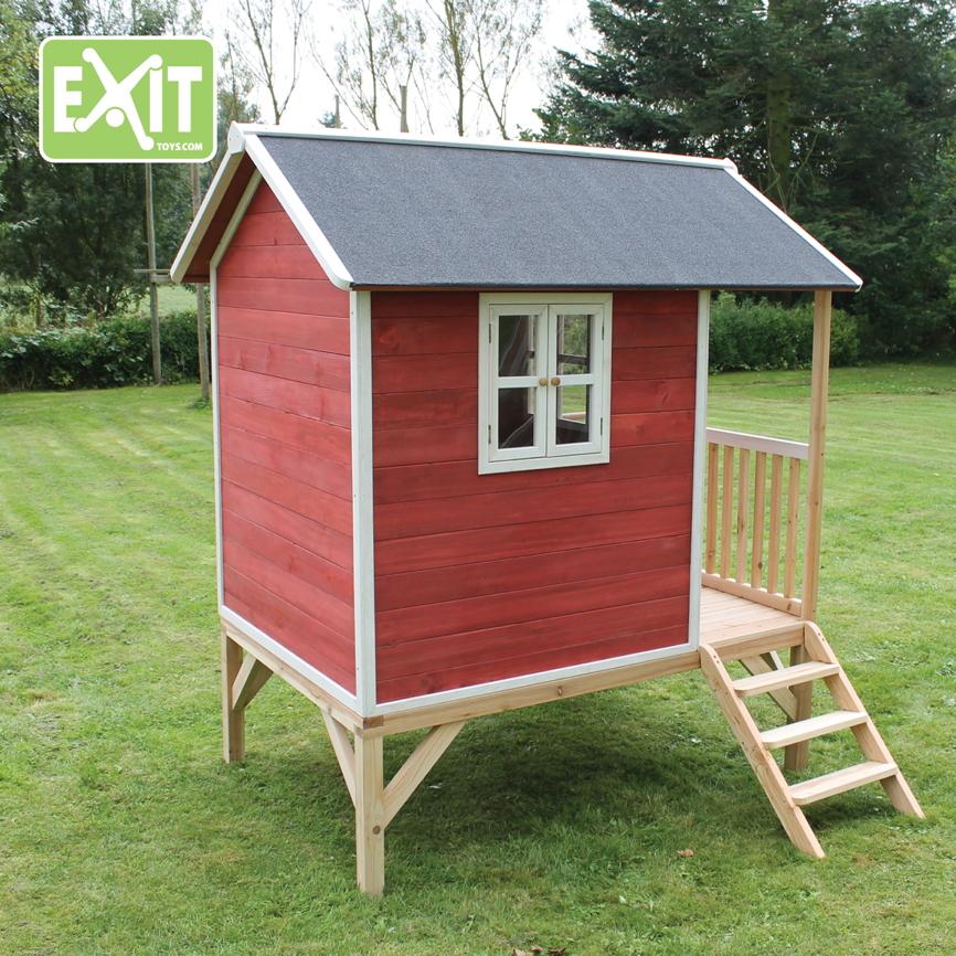 Überdachung Aus Holz Hier Günstig Kaufen Qsgartendecode: Kinder-Spielhaus EXIT «Loft 300» Kinderspielhaus