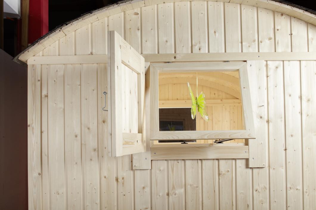 kinderspielhaus wolff camping bauwagen holz stelzen gartenhaus gartenspielhaus vom. Black Bedroom Furniture Sets. Home Design Ideas