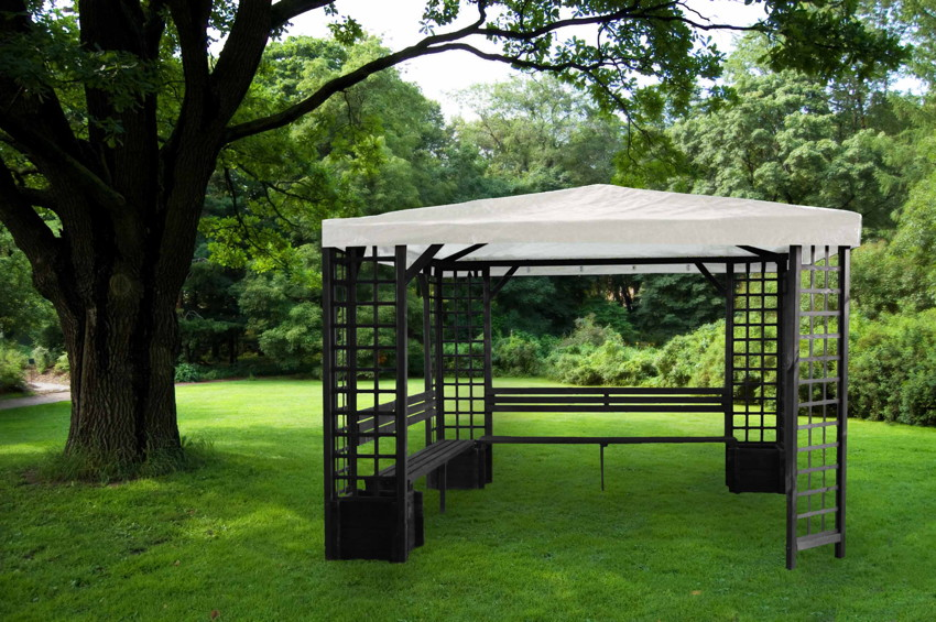 pavillon promadino mindelheim 4 eck holz pavillon. Black Bedroom Furniture Sets. Home Design Ideas
