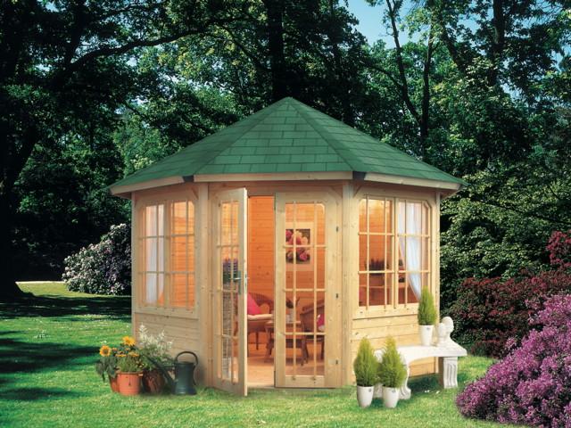Gartenpavillon Holz Baumarkt ~   Eck Holz Pavillon  Kaufen im Holz Haus de Garten Baumarkt Online Shop