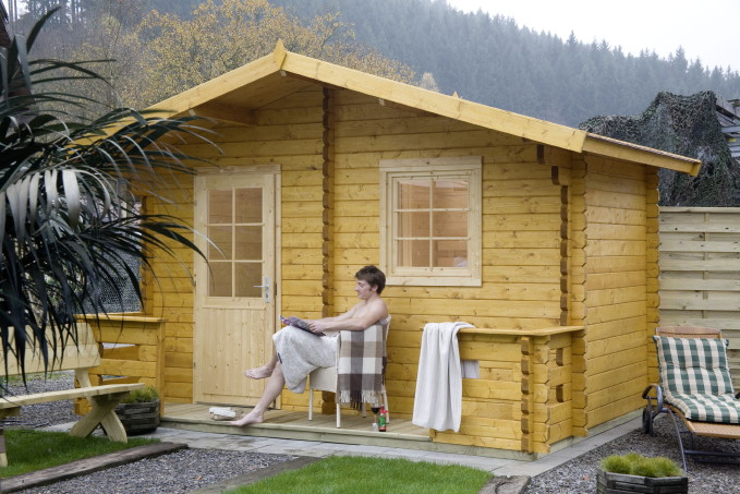 saunahaus wolff sanna gartensauna holzsauna kaufen im holz garten baumarkt online shop. Black Bedroom Furniture Sets. Home Design Ideas