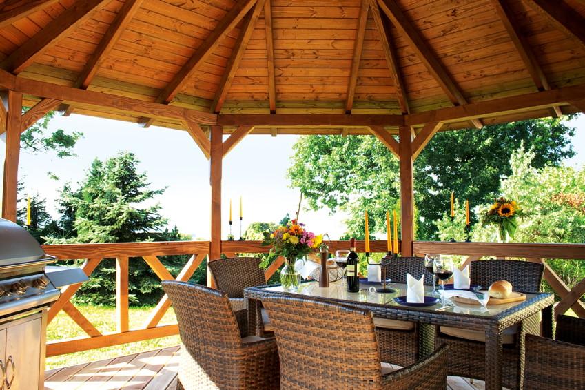 pavillon skanholz lyon 8 eck pavillion holzpavillon. Black Bedroom Furniture Sets. Home Design Ideas