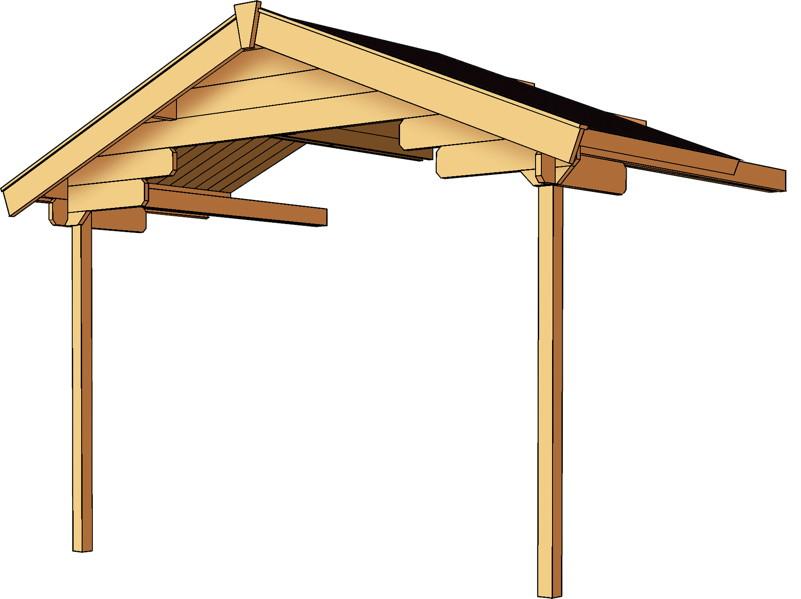 vordachverlängerung skanholz «für 28 mm blockbohlen-gartenhäuser, Moderne