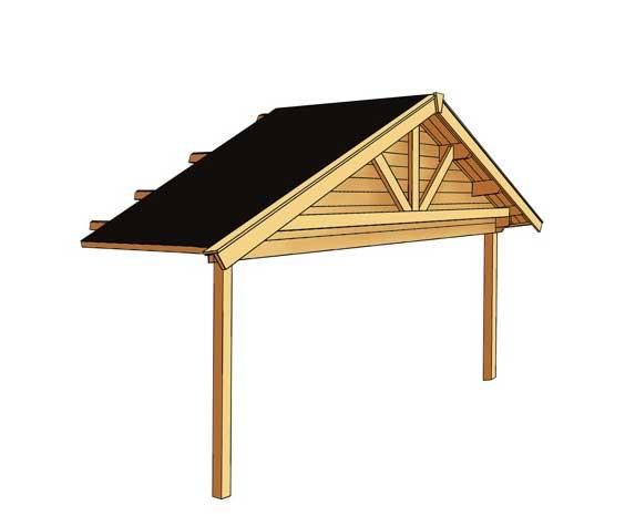 Überdachung Aus Holz Hier Günstig Kaufen Qsgartendecode: Vordachverlängerung SKANHOLZ «für Toronto Blockbohlen