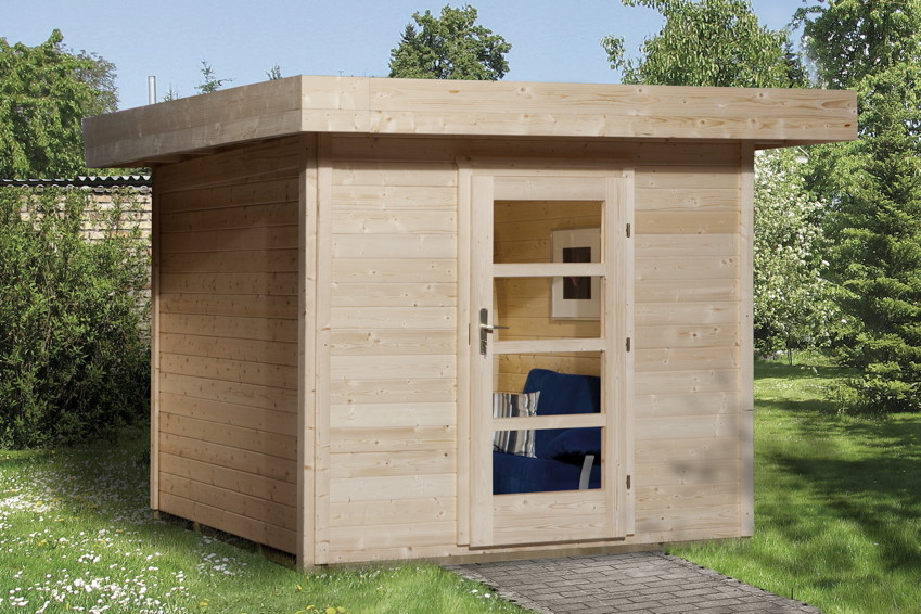 gartenhaus holz flachdach modern. Black Bedroom Furniture Sets. Home Design Ideas