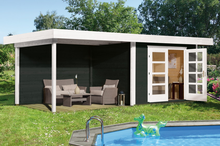Gartenhaus Holz Bausatz Flachdach Weka Designhaus 126 Gr 2 Kaufen Im Holz Garten