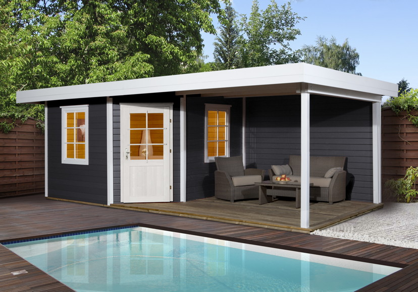 gartenhaus flachdach weka designhaus 213 gr e 2 f nf. Black Bedroom Furniture Sets. Home Design Ideas