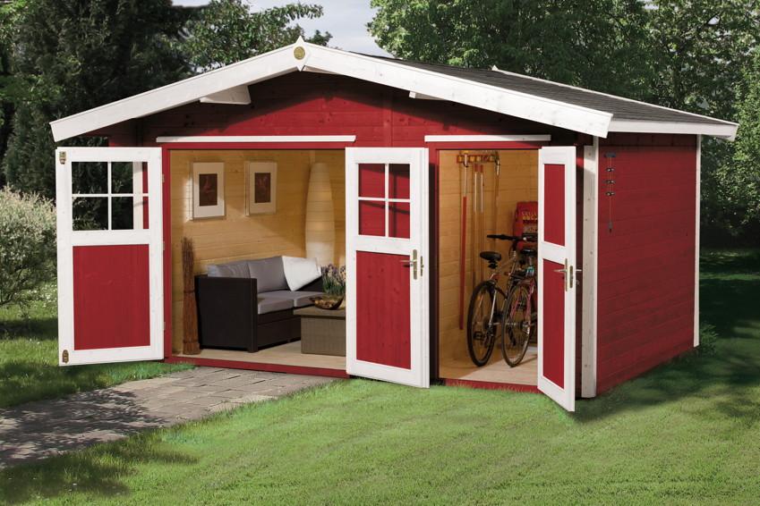 gartenhaus weka gartenhaus 261 holz haus bausatz 2 raum. Black Bedroom Furniture Sets. Home Design Ideas