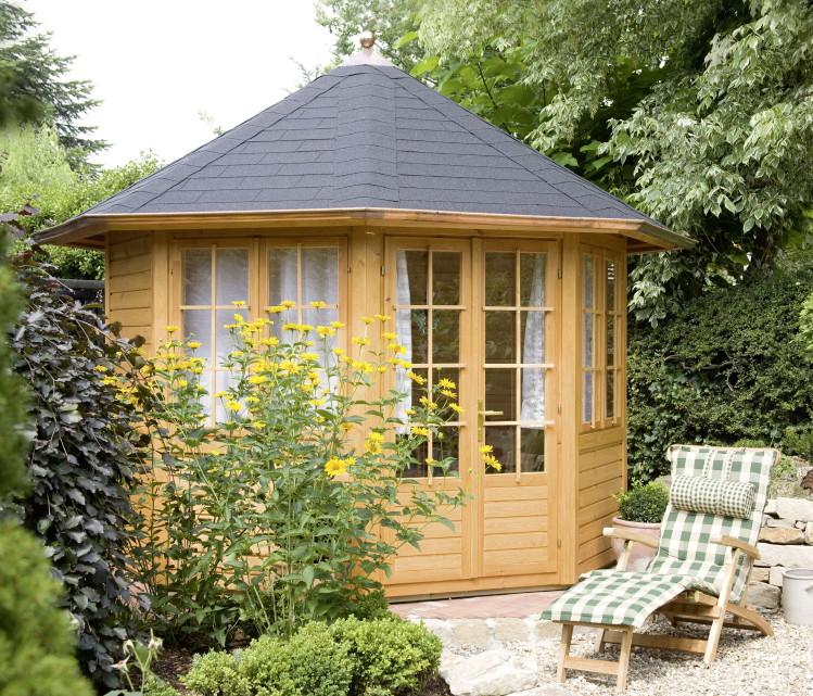 Gartenpavillon Holz Baumarkt ~ Pavillon WOLFF «Palma 2» 8 Eck Holz Pavillon mit 2 Doppelfenster und