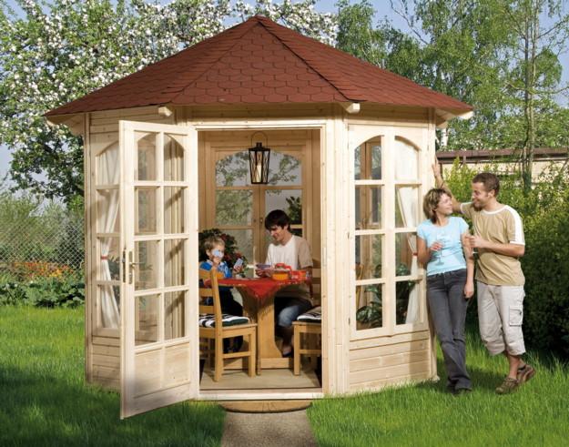 holz pavillon dach praktiker. Black Bedroom Furniture Sets. Home Design Ideas