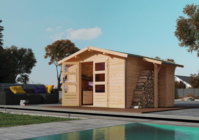 gartenhaus karibu angelburg holz haus bausatz doppelt r. Black Bedroom Furniture Sets. Home Design Ideas