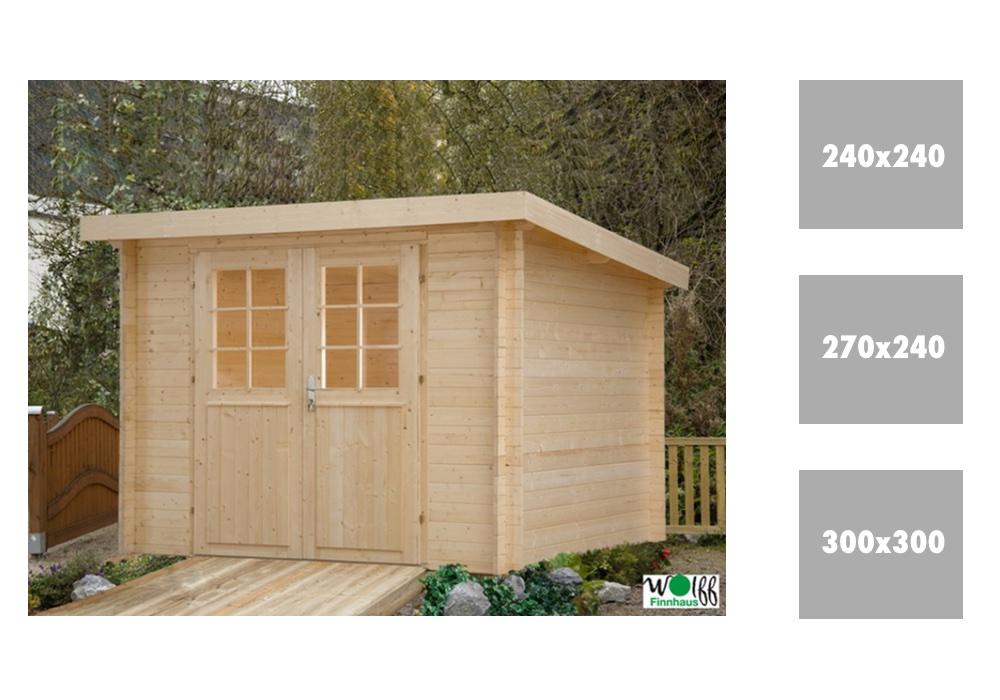 pultdachhaus gartenhaus wolff pulti 28 holz haus bausatz. Black Bedroom Furniture Sets. Home Design Ideas