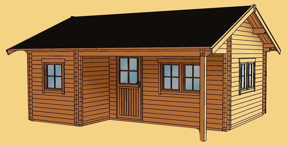 gartenhaus skanholz ontario ferienhaus berdachter eingang kaufen im holz garten. Black Bedroom Furniture Sets. Home Design Ideas