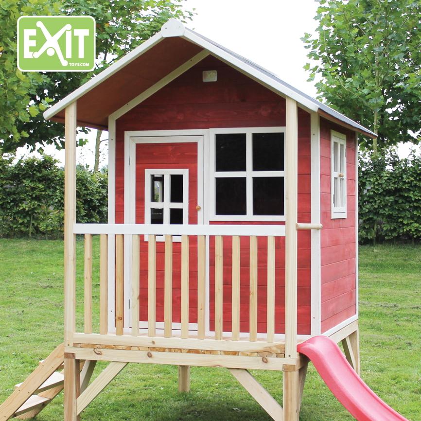holz kinder spielhaus stelzen kinderspielhaus stelzenhaus. Black Bedroom Furniture Sets. Home Design Ideas