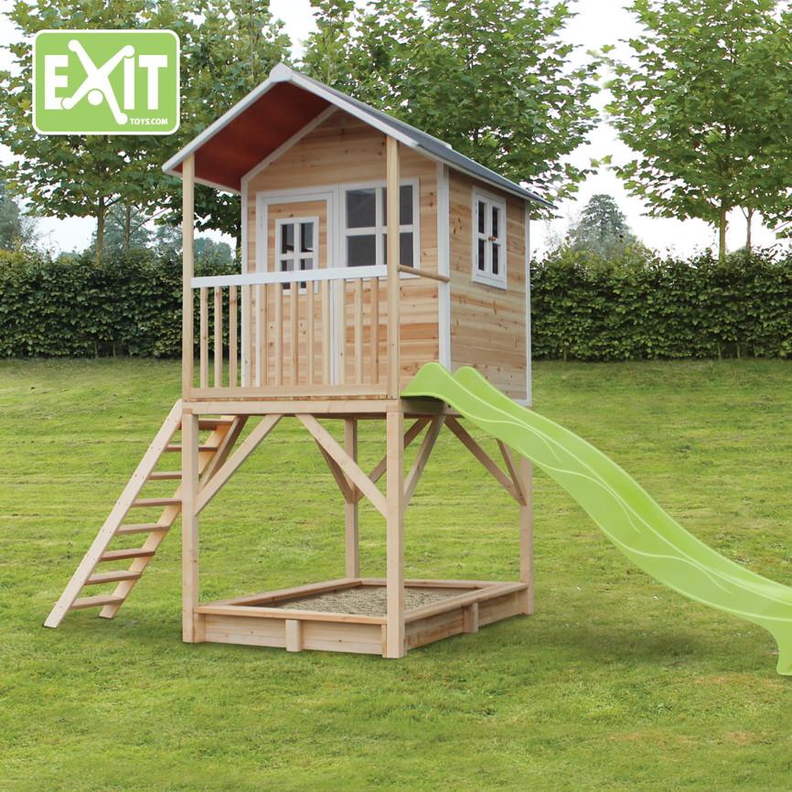 kinder spielhaus exit loft 700 kinderspielhaus stelzenhaus holzhaus natur kaufen im holz. Black Bedroom Furniture Sets. Home Design Ideas