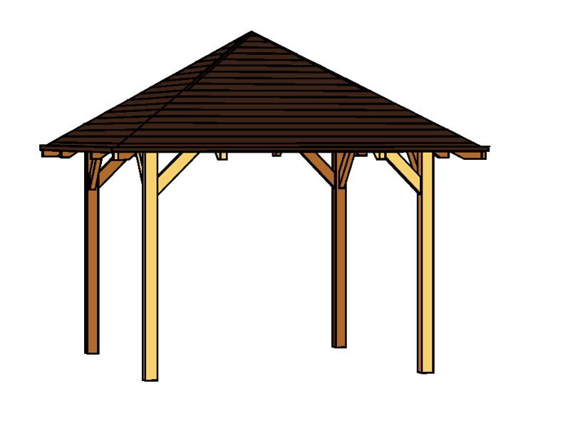 pavillon skanholz cannes 4 eck pavillion holzpavillon. Black Bedroom Furniture Sets. Home Design Ideas